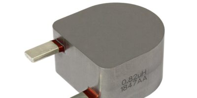 Through-hole inductor saves space in renewable energy applications