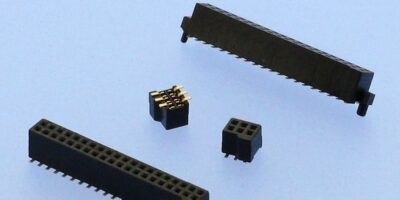 Surface mount female headers reduce PCB height