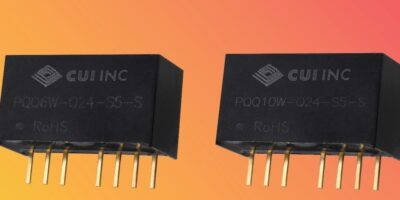 Compact regulated converters have 4:1 input range