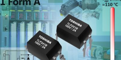 Photorelay targets industrial use with 40 to 100V control range