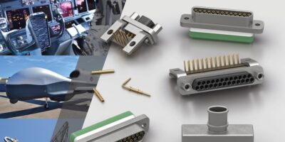 Souriau miniature, high-density rectangular connectors save weight and space