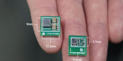 DC/DC controllers' integrated EMI filter aids tiny low-power designs