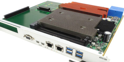 ATCA carrier accepts any standard PCIe edge type module