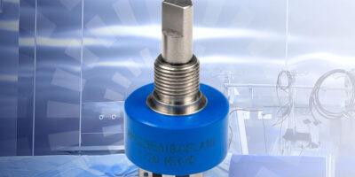 Non-contacting feedback rotary sensor has SSI output
