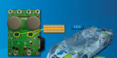 DC/DC demonstration board is scalable for efficient hybrid vehicles