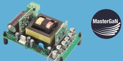 MasterGaN reference design eliminates heatsink from resonant converter