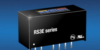 Cost-efficient, regulated SIP8 DC/DC converters have high power density