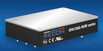 Recom offers 16:1 input DC/DC for rail applications