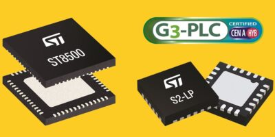 STMicroelectronics claims first prize in race for G3-PLC hybrid comms chipset