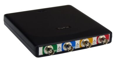 Four channel USB 3.0 oscilloscope can connect which comes in Handy