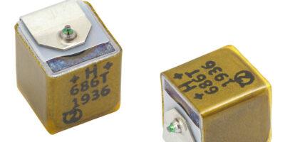 Tantalum capacitors by Vishay Intertechnology save board space