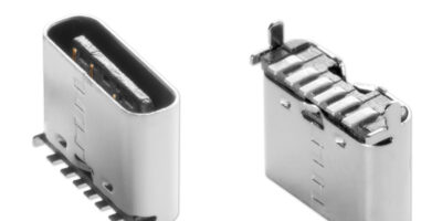 CUI adds vertical model to power-only USB Type C receptacle range
