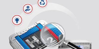 Bi-directional DC power supplies and regenerative DC loads test fuel cells