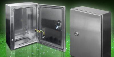 Stainless steel enclosures are supplied in kit form