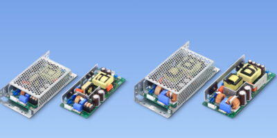 Free-air convection cooled open frame power supplies are certified 'safe power'