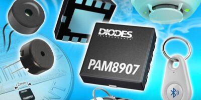 Selectable output piezo sounder driver maximises sound pressure level