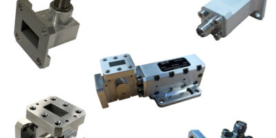 K-band waveguide components are compact and rugged for satellites