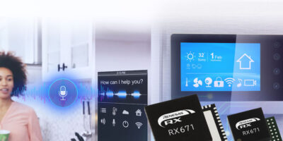 32-bit microcontrollers integrate HMI functions for contactless operation