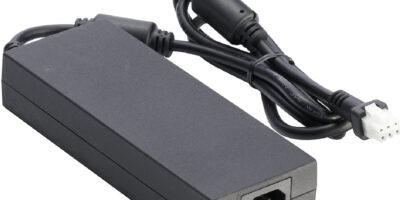 Compact 250W GaN FET AC/DC power adapter meets ITE 62368-1 standards