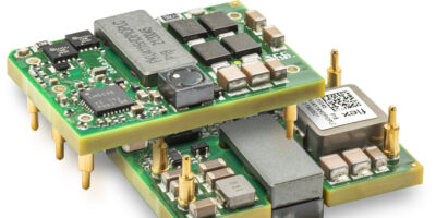 1/16th brick DC/DC converter is for RFPA and PoE applications