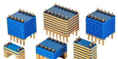 Large capacitor assemblies for automotive, military and aerospace applications