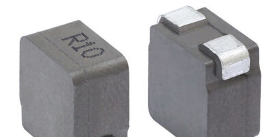 Vertical-mount inductor saves space in 4025 case